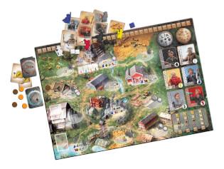 Spielmaterial mit Spielbrett- Red Outpost