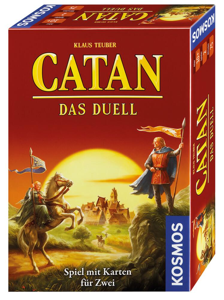 Schachtel Vorderseite, rechte Seite- Catan - Das Duell