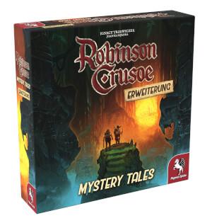 Schachtel Vorderseite, linke Seite- Robinson Crusoe: Mystery Tales