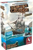 Schachtel Vorderseite, linke Seite - Robinson Crusoe: Die Fahrt der Beagle