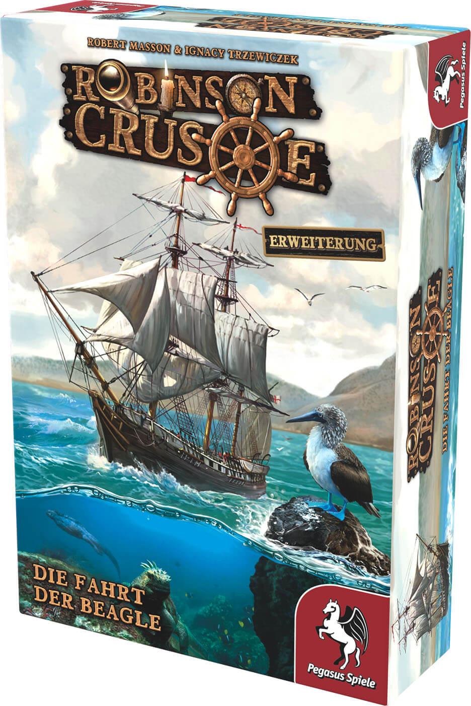 Schachtel Vorderseite, rechte Seite- Robinson Crusoe: Die Fahrt der Beagle