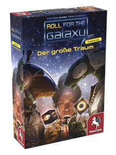 Schachtel Vorderseite, linke Seite- Roll for the Galaxy: Der große Traum
