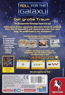 Schachtel Rückseite- Roll for the Galaxy: Der große Traum