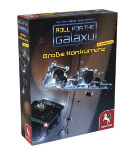 Schachtel Vorderseite, linke Seite- Roll for the Galaxy: Große Konkurrenz