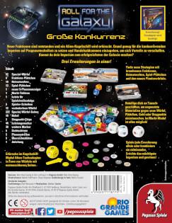 Schachtel Rückseite- Roll for the Galaxy: Große Konkurrenz