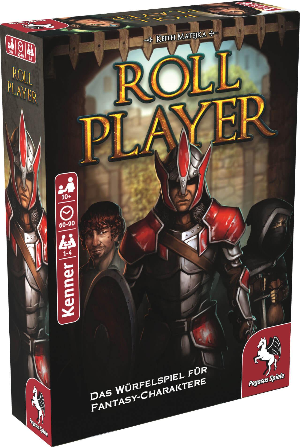 Schachtel Vorderseite, linke Seite- Roll Player