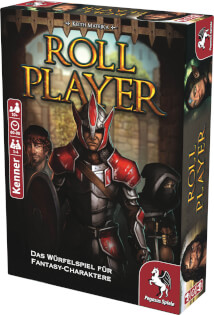 Schachtel Vorderseite, rechte Seite- Roll Player