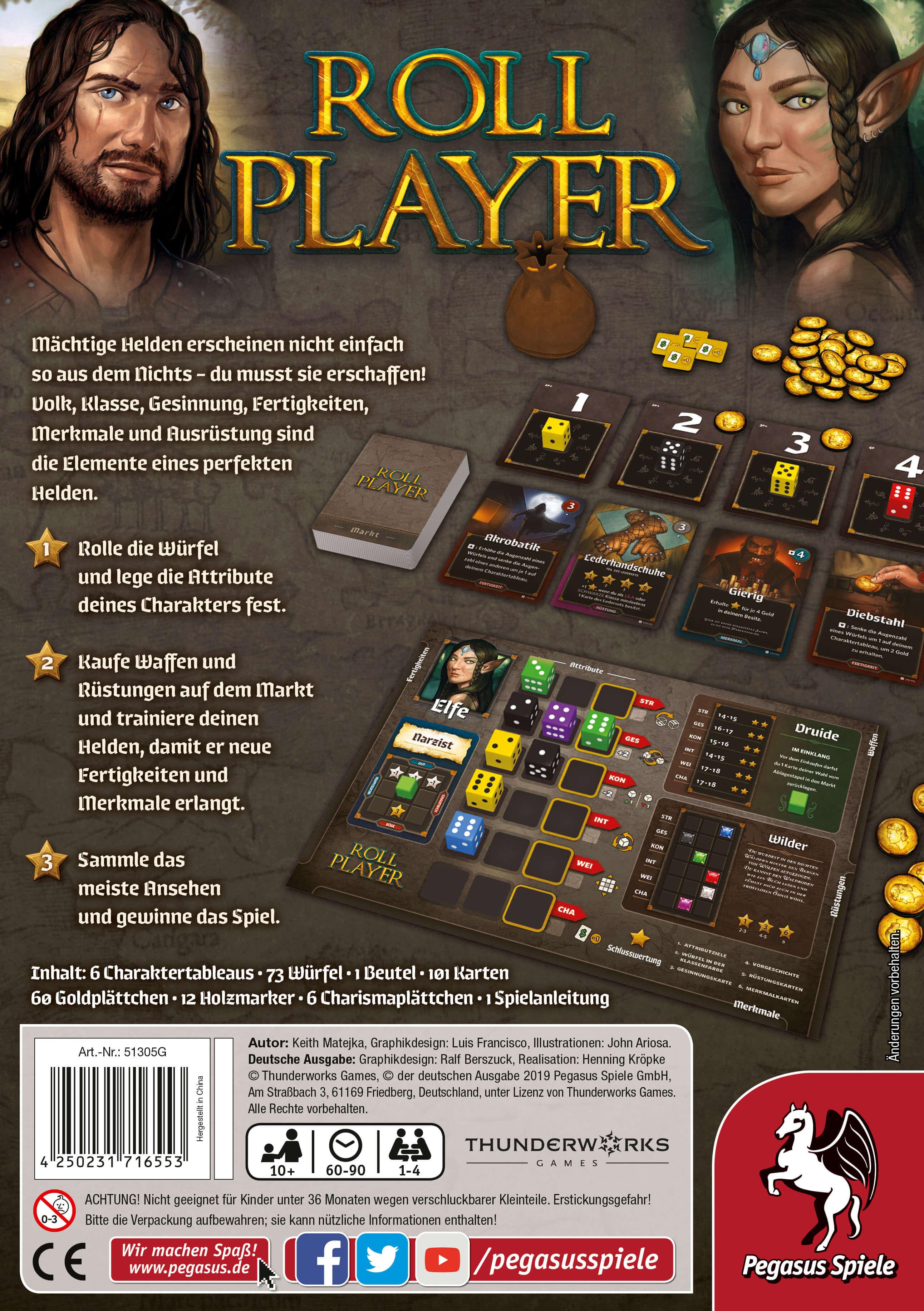Schachtel Rückseite- Roll Player