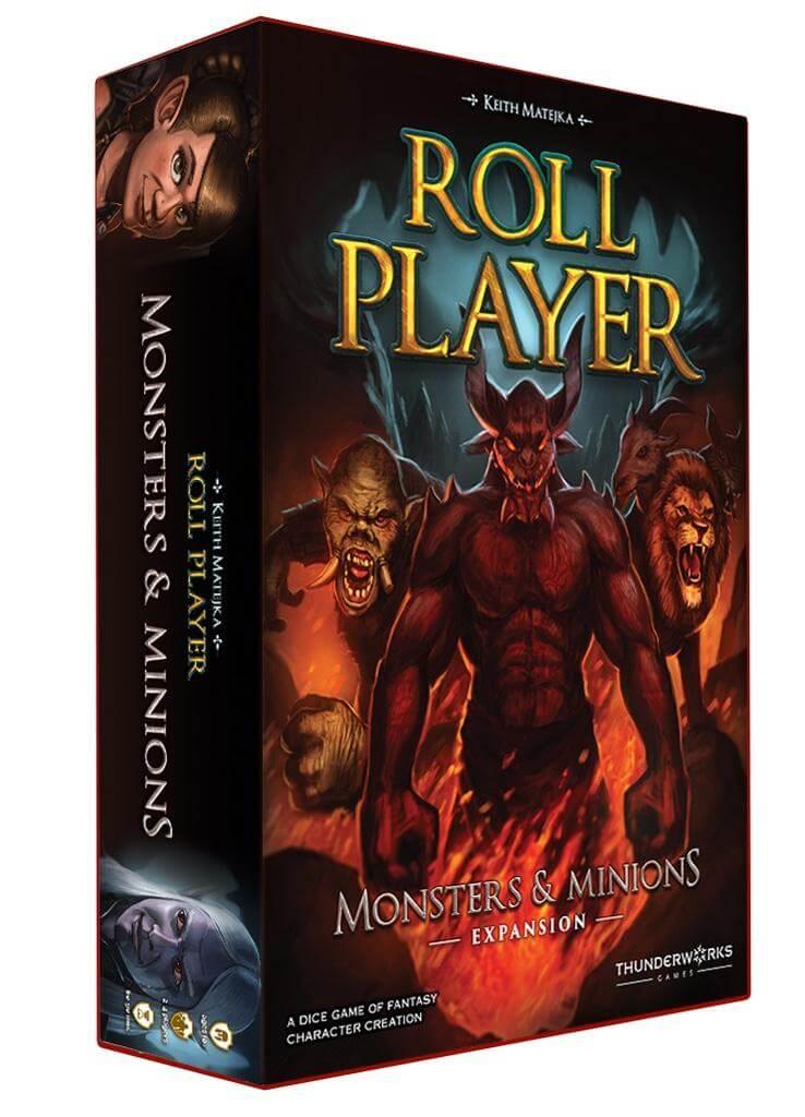 Schachtel Vorderseite, linke Seite- Roll Player: Monsters & Minions