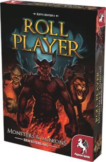 Schachtel Vorderseite, rechte Seite- Roll Player: Monsters & Minions