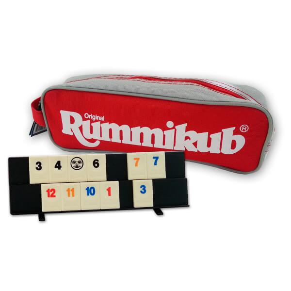 Tasche und Spielmaterial- Rummikub Pocket
