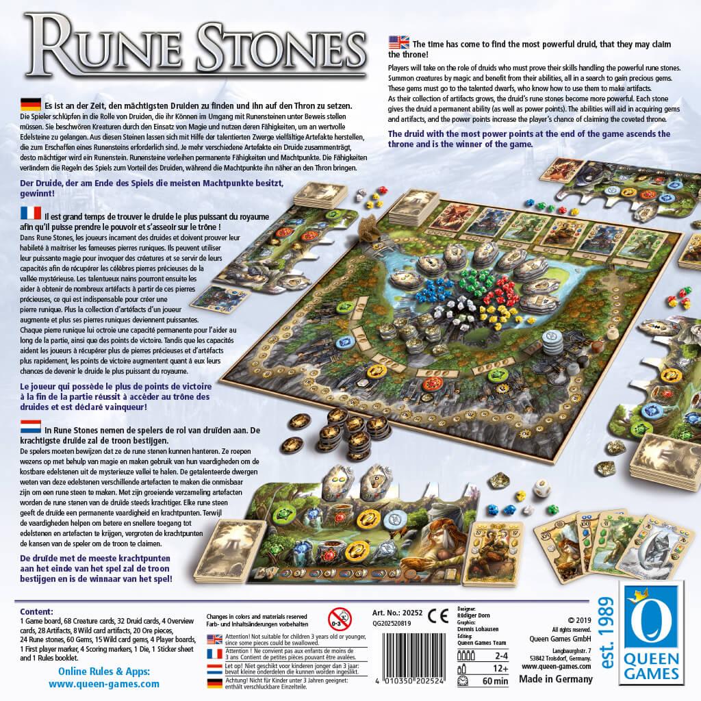 Schachtel Rückseite- Rune Stones