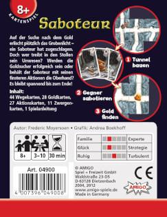 Schachtel Rückseite- Saboteur