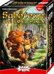 Schachtel Vorderseite, rechte Seite- Saboteur - The Lost Mines