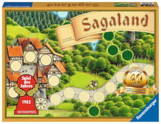 Schachtel Vorderseite - Spiel des Jahres 1982- Sagaland - 40 Jahre Jubiläumsedition