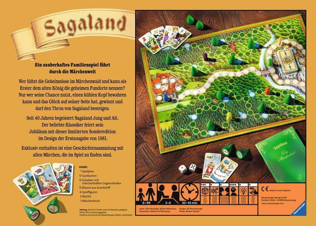 Schachtel Rückseite - Spiel des Jahres 1982- Sagaland - 40 Jahre Jubiläumsedition