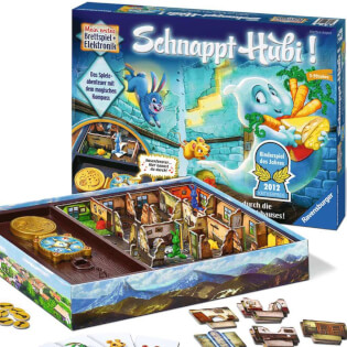 Spielmaterial - Kinderspiel des Jahres 2012- Schnappt Hubi!