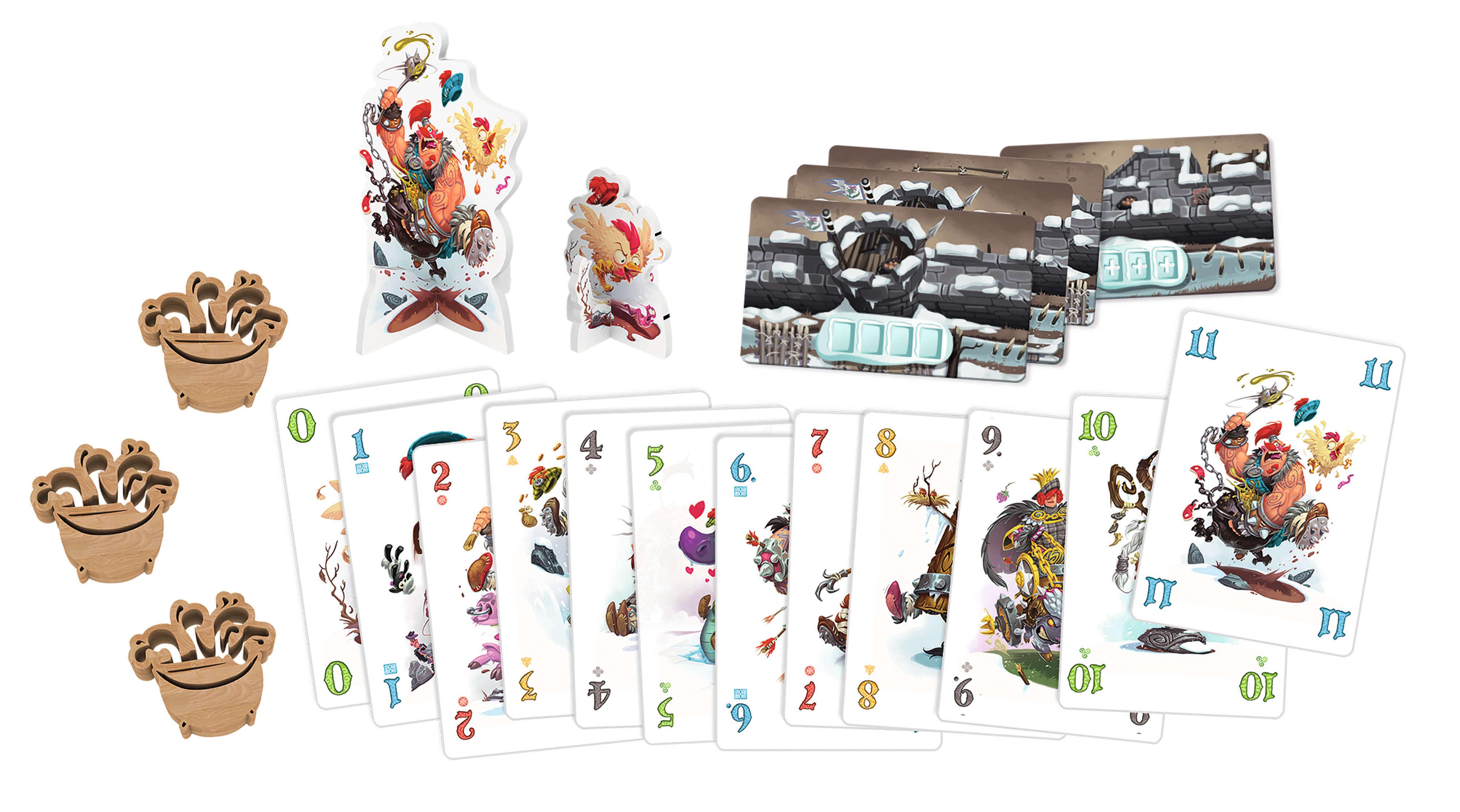 Spielmaterial mit Karten- Schotten Totten 2