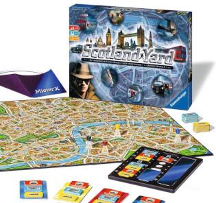 Schachtel und Spielmaterial - Spiel des Jahres 1983- Scotland Yard