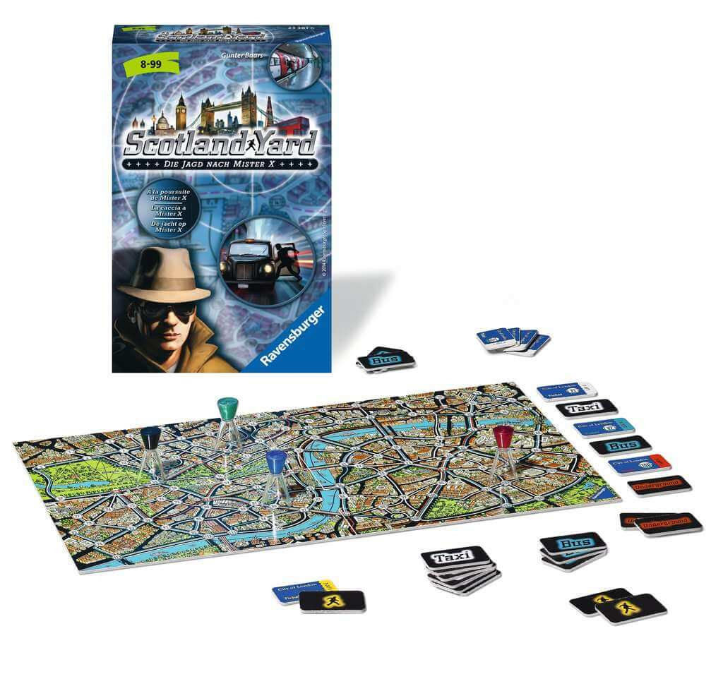 Schachtel und Spielmaterial- Scotland Yard - jeu à emporter