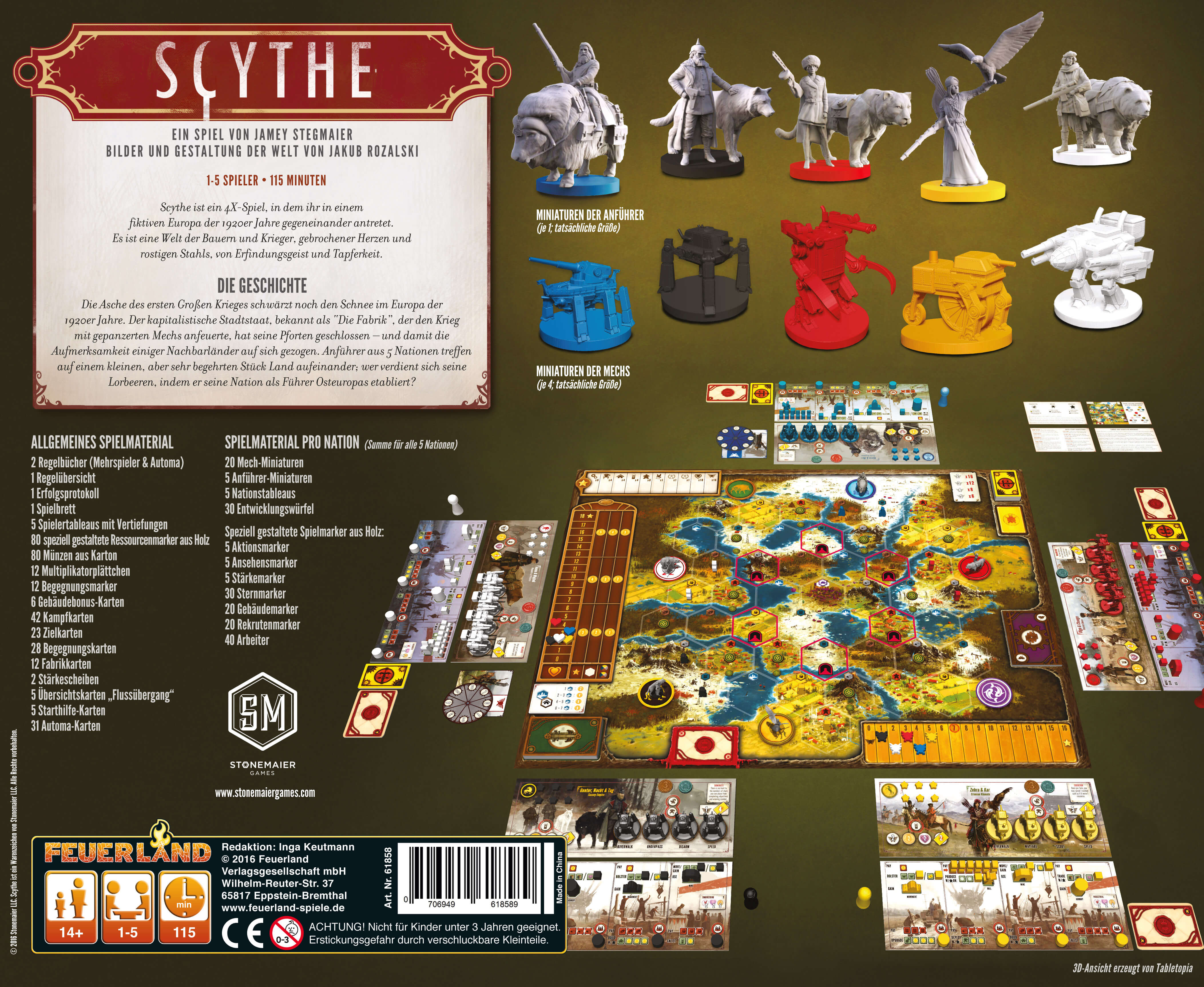Schachtel Rückseite - Der Brettspiel-Hit- Scythe