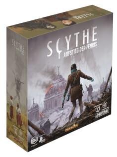 Schachtel Vorderseite links- Scythe: Aufstieg der Fenris