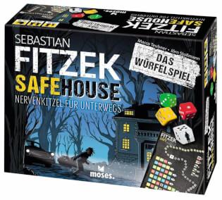 Schachtel Vorderseite- Sebastian Fitzek – Safehouse: Das Würfelspiel