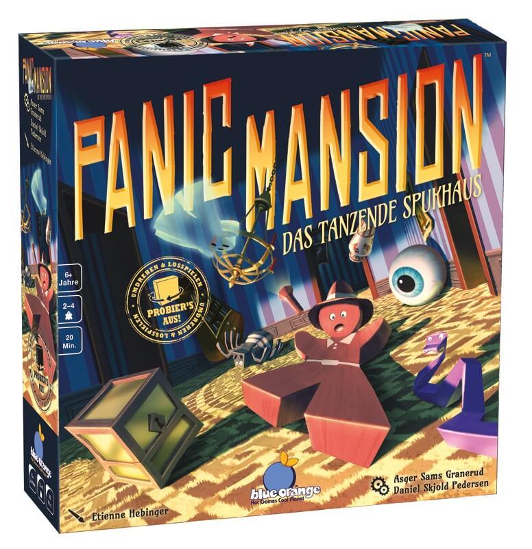 Schachtel Vorderseite - nominiert zum Kinderspiel des Jahres 2018- Panic Mansion