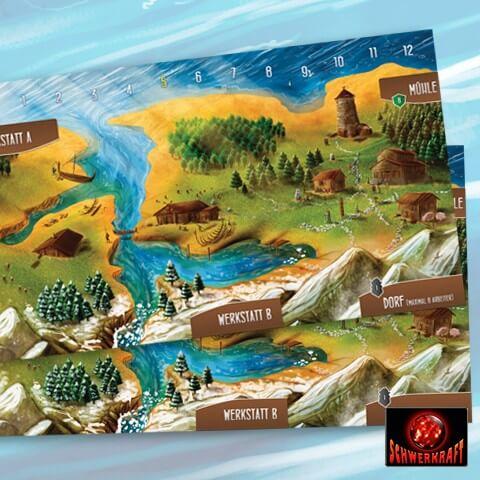 Spielmaterial - Spielertableau- Schiffbauer der Nordsee