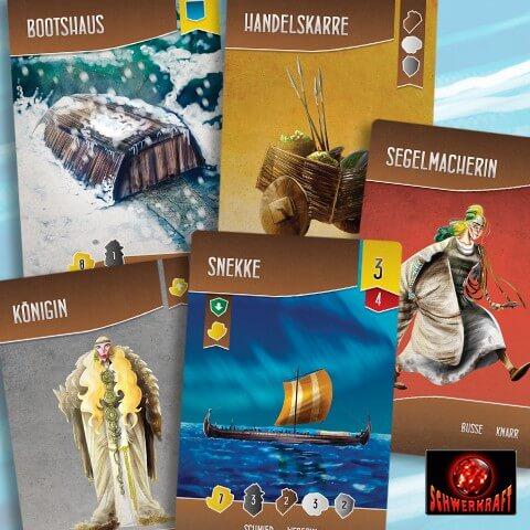 Spielmaterial - Spielkarten- Schiffbauer der Nordsee