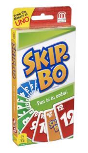 Schachtel Vorderseite, linke Seite- Skip-Bo