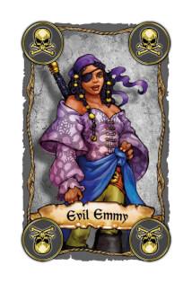 Piraten-Karte Evil Emmy - Lustiges Familienspiel mit Piraten- Skull King