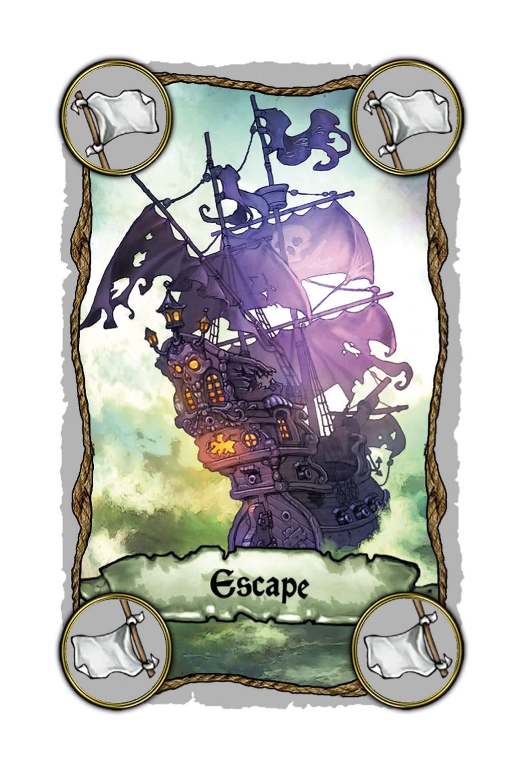 Escape-Karte - Lustiges Familienspiel mit Piraten- Skull King