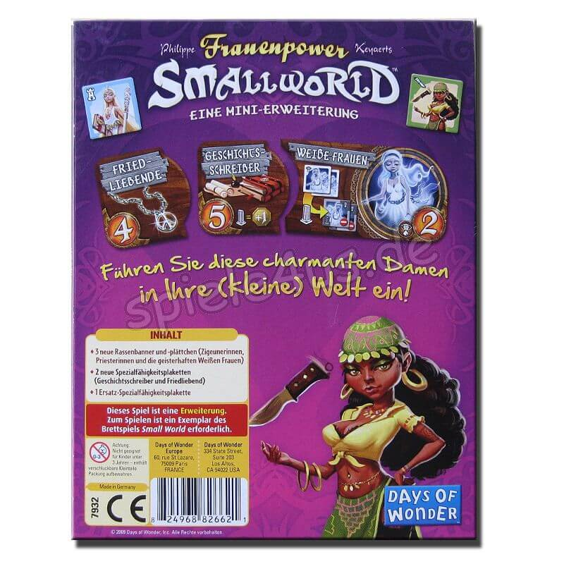 Schachtel Rückseite- Small World - Frauenpower