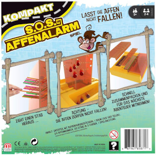 Schachtel Rückseite- SOS Affenalarm - Kompakt