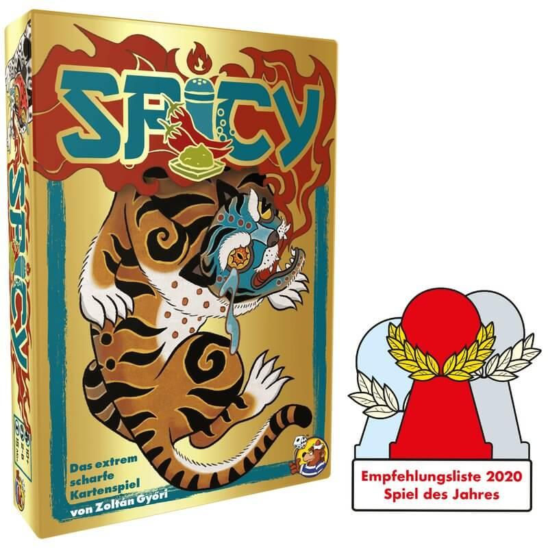 Schachtel Vorderseite und Auszeichnung- Spicy