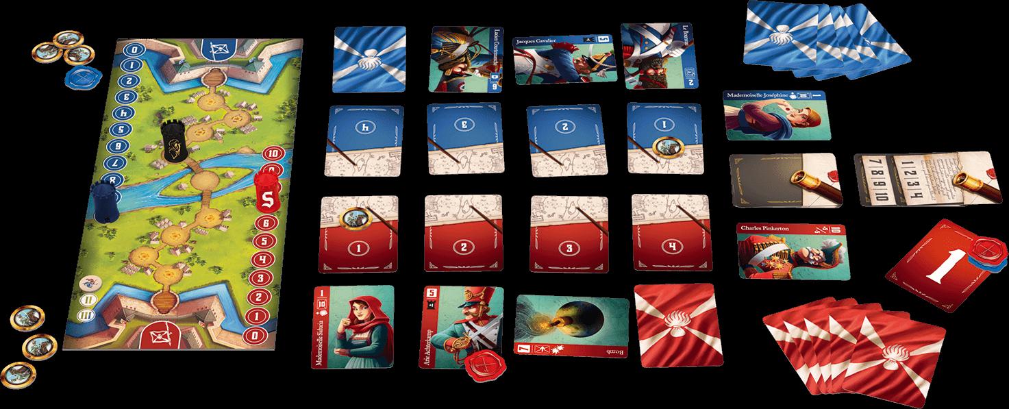 Spielmaterial - Plan und Karten- Spies & Lies - a Stratego Story