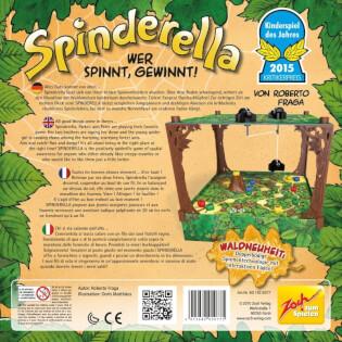 Schachtel Rückseite  - Kinderspiel des Jahres 2015- Spindarella