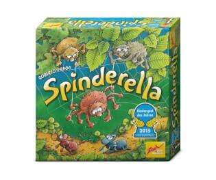 Schachtel Vorderseite - Kinderspiel des Jahres 2015- Spindarella