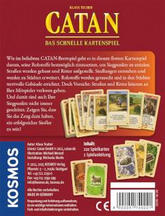 Schachtel Rückseite- Catan - Das schnelle Kartenspiel