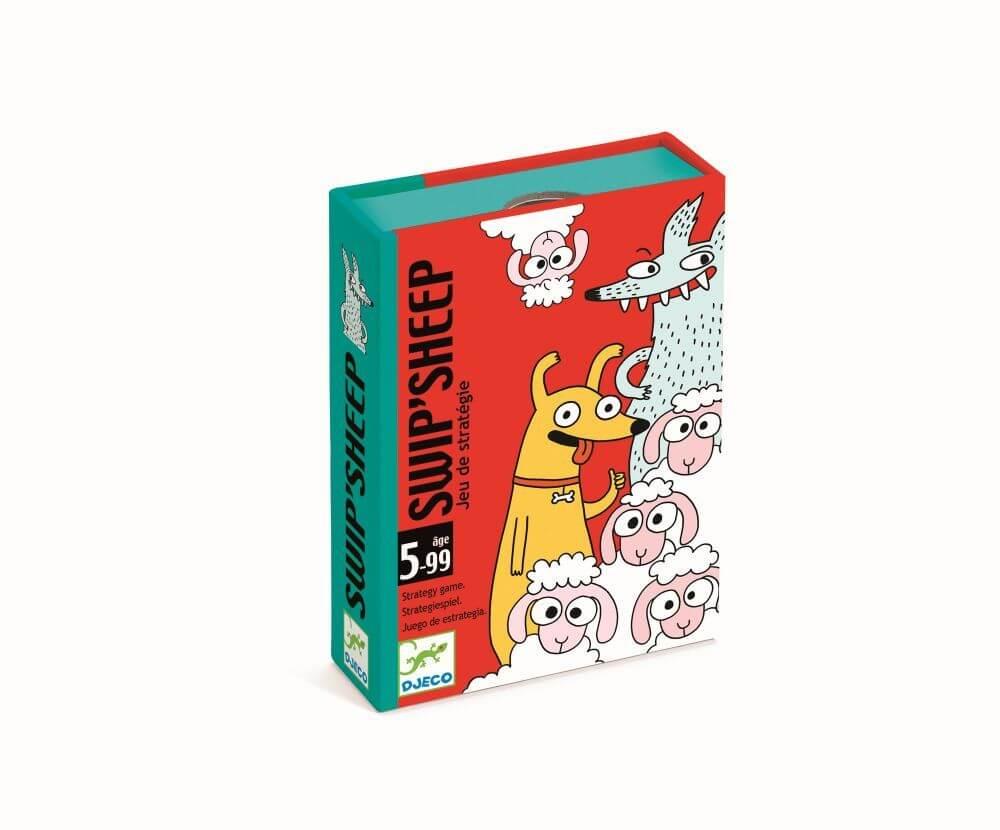 Schachtel Vorderseite, linke Seite - empfohlen zum Kinderspiel des Jahres 2021- Swip
