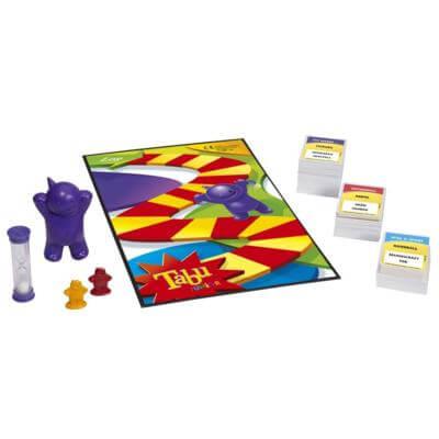 Spielmaterial mit Sanduhr und Karten- Tabu Junior