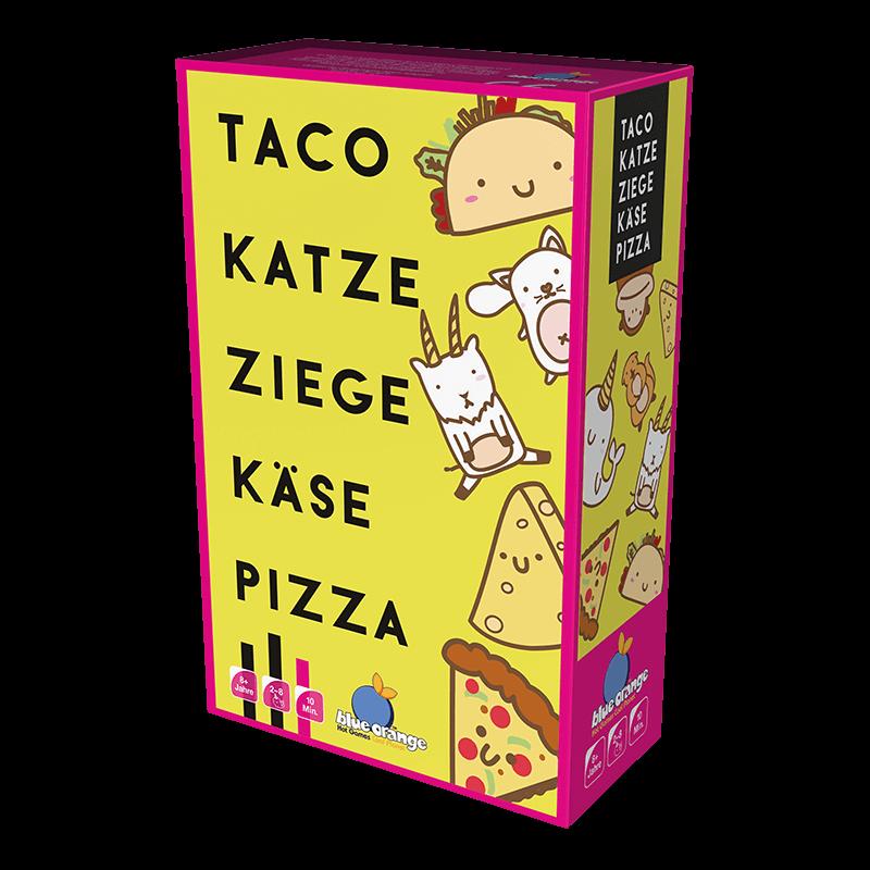 Schachtel Vorderseite- Taco Katze Ziege Käse Pizza