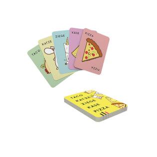 Spielkarten- Taco Katze Ziege Käse Pizza