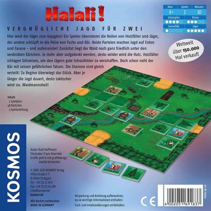 Schachtel Rückseite- Halali!