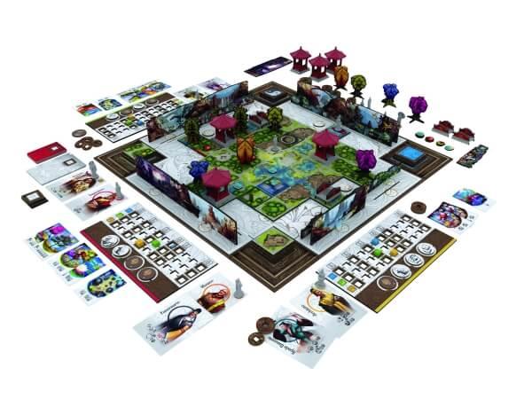 Spielmaterial und -szene- Tang Garden