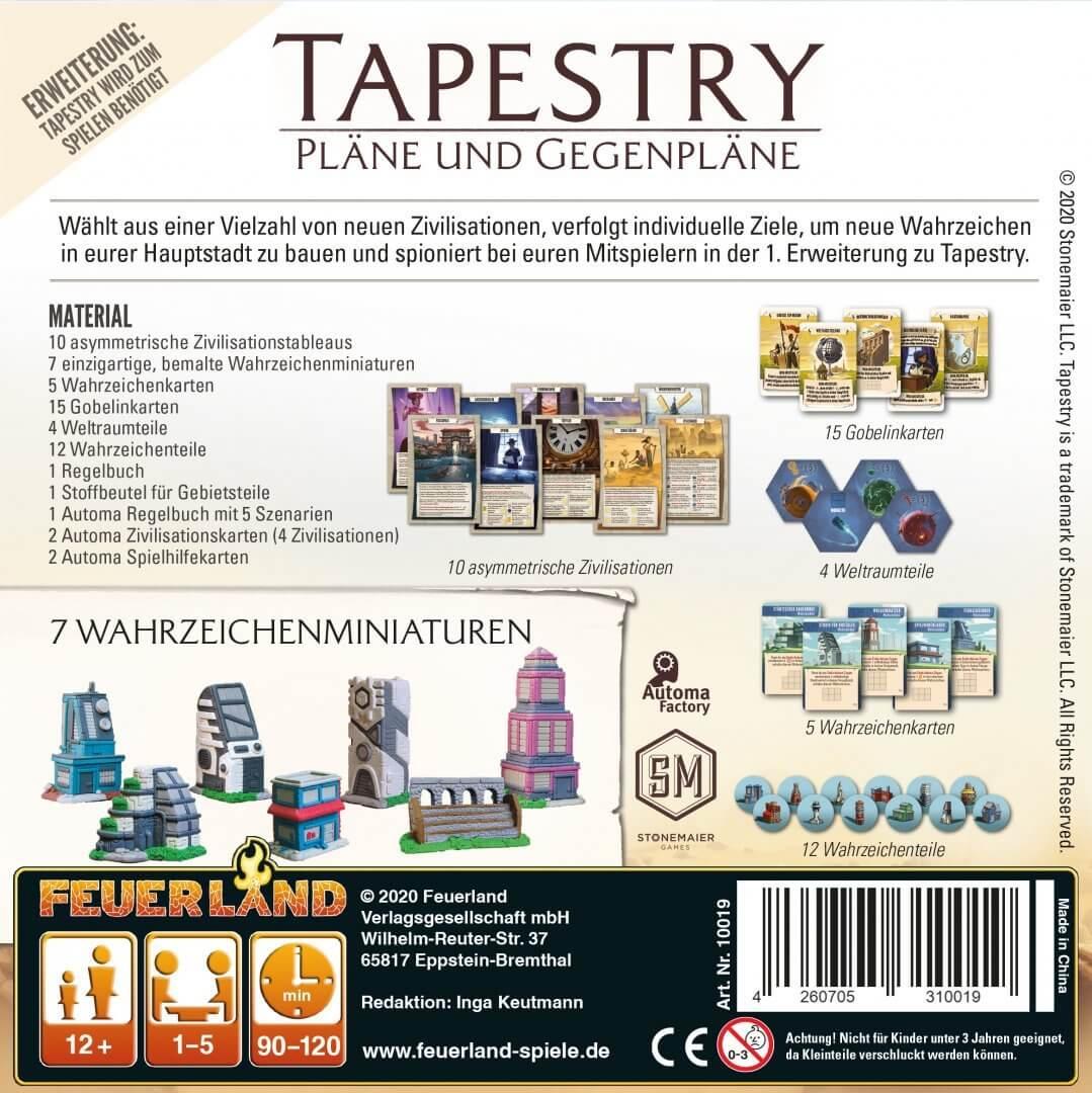 Schachtel Rückseite- Tapestry - Pläne und Gegenpläne