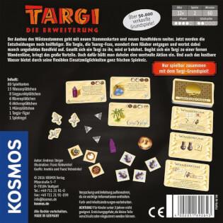 Schachtel Rückseite- Targi - Die Erweiterung