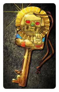 Schlüssel-Karte - Abenteurer gegen Wächterinnen- Tempel des Schreckens