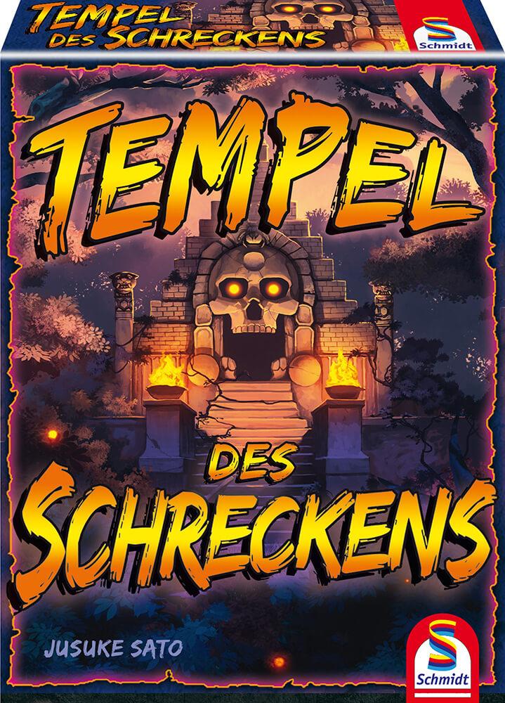 Schachtel Vorderseite - Abenteurer gegen Wächterinnen- Tempel des Schreckens